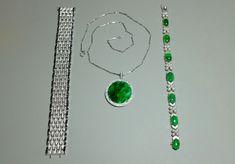 88bb92464d62 18k Medallion Big Jade Pendant Necklace. Jade JewelryWhite Gold ...
