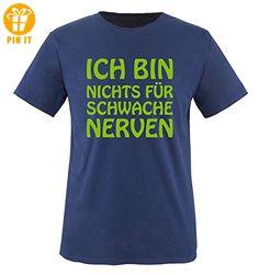 Ich bin nichts für schwache Nerven - Kinder T-Shirt - Navy / Grün Gr. 98-104 - T-Shirts mit Spruch | Lustige und coole T-Shirts | Funny T-Shirts (*Partner-Link)