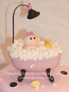 Baby Shower Cake for girl...haha love the idea and the details
