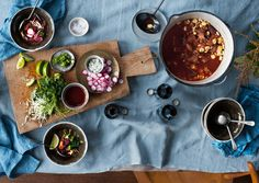 Posole with Red Chile Recipes. Mexican Dishes, Mexican Food Recipes, Chefs, Great Recipes, Favorite Recipes, Pork Stew, Pork Posole, Good Food, Yummy Food