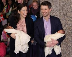 Crown Prince Frederik and Crown Princess Mary of Denmark Introduce their Royal Twins