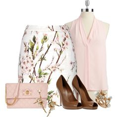 cherry blossom by vanessa-bohlmann on Polyvore featuring Vince Camuto, Dolce&Gabbana, Gucci, Marc Jacobs and Shaun Leane