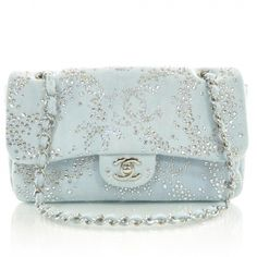 Pastel blue purse from Chanel