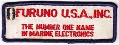 Furuno USA, Inc. Marine Electronics on White Twill Patch