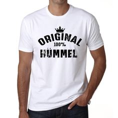 hümmel, 100% German city white, Men's Short Sleeve Rounded Neck T-shirt
