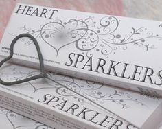 Heart shaped sparkles as wedding favors.