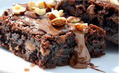 The Best Chocolate Brownie   Makes 12    Get The Recipe @ https://www.facebook.com/pages/Urban-Foodie/321998004590237  #Brownie    #UrbanFoodie