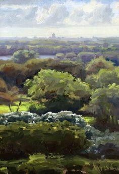 Titus Meeuws impressionist - Duinen bij Meijendel. Olie op paneel. 50 x 35