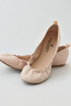 AEO Women's Classic Scrunch Ballet Flat from American Eagle Outfitters. Saved to Shoes.