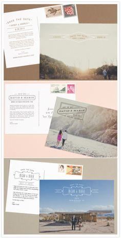 Save the date templates. Love the post card look!