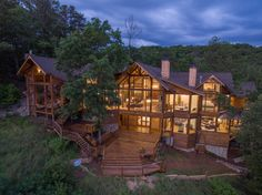 House in Asheville, United States. This is a rare, one-of-a-kind new construction, three-story luxury mountain timber frame home sits on acres of forest land without neighbors, with high-elevation spectacular views overlooking the majestic Blue Ridge & Smokey Mountains and the Fren...