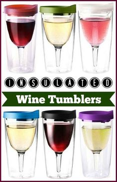 Vino2Go Insulated Wine Tumblers - Adult Sippy Cup