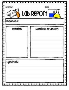 Lab Report: Use this versatile printable to help familiarize young scientists with the scientific process when conducting science experiments in the classroom! Science Worksheets, Science Resources, Science Experiments Kids, Science Fair, Science Lessons, Science Education, Teaching Science, Science For Kids, Science Activities