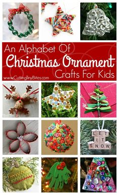 Great collection of Christmas ornaments that kids can make. Craft choices for preschoolers and elementary. Christmas Arts And Crafts, Christmas Ornament Crafts, Preschool Christmas, Noel Christmas, Christmas Activities, Homemade Christmas, Christmas Projects, Christmas Themes, Holiday Crafts