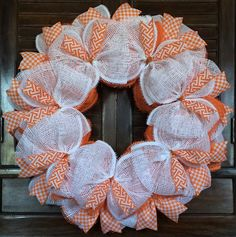 Tennessee Orange & White Wreath