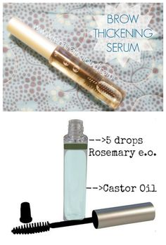 DIY Brow Thickening Serum