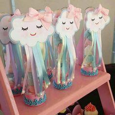from - Muito amor envolvido 💙💖 Por Unicorn Birthday Parties, Unicorn Party, Birthday Party Themes, Girl Birthday, Cloud Party, Rainbow Baby, Diy Party Decorations, Baby Shower Themes, Diy And Crafts