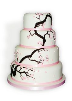 Oriental Blossom Wedding Cake by Sucre Coeur - Eats & Ink, via Flickr