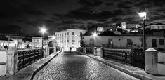 Ponte Romana At Night - Tavira, Portugal Print by Barry O Carroll Black And White Photography, Fine Art America, Portugal, Night, Prints, Black White Photography, Bw Photography