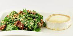 Quinoa salade met spinazie en geitenkaas