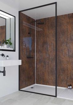 Small Bathroom Vanities, Master Bathroom, House Pillars, Bathroom Design Luxury, Container House Design, Style Tile, Industrial House, Bathroom Inspiration, Decoration