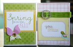 Spring cards | Pretty Spring cards Making Memories paper | Craft Ideas