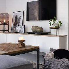 Living room - Have a look at jeannettevanluyck - Have a look - Wohnkultur Wohnung - Apartment Decor Living Room With Tv, Living Room Grey, Home Living Room, Interior Design Living Room, Living Room Designs, Living Room Decor, Living Room Furniture, Small Living, Modern Living