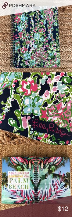 "Lilly Pulitzer Southern Charm Notebook Journal New and never used. Heavy cover  Inside pocket 160 college ruled pages 6"" x 8 1/4"" x 5/8"" Lilly Pulitzer Accessories"