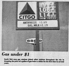 Gas dips under $1