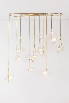Gold hanging totem luxury lighting