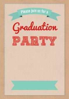 #Graduation Party #Invitation - Free Printable