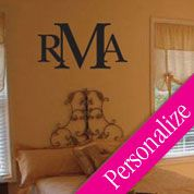 Custom Made Wall Decal Monogram. And it's affordable! Perfect for dorm room wall