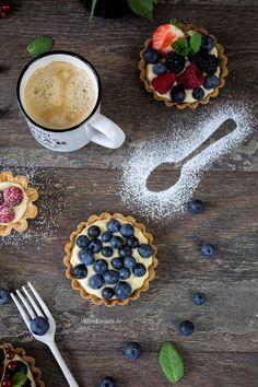 Tartelettes mit Blaubeeren und Mascarpone-Creme