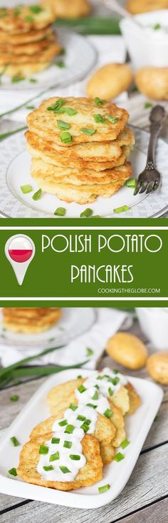 These Polish Potato Pancakes are amazingly delicious and require only few simple ingredients to make!   cookingtheglobe.com