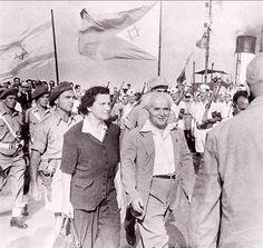Ben Gurion with Golda Meir