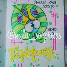 Imagen relacionada Bff Birthday Gift, School Notebooks, Book Letters, Diy Notebook, Up Halloween, Cover Pages, Letters And Numbers, Cute Illustration, Diy And Crafts