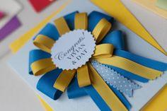 Kalo Make Art Bespoke Wedding Invitation Designs: Bespoke Handmade Rosette Award Card