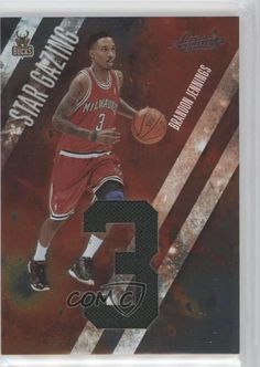 2009-10 Absolute Memorabilia Star Gazing Jumbo Jersey Numbers 3 Brandon  Jennings a18a80057