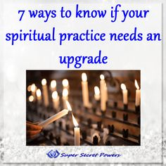 Now is the time to dig a little deeper and make sure you have upgrade your habits and lifestyle to give you the energy and mindset to blaze forward!! For Empaths and Intuitives, this is especially true for your daily spiritual practices!Its so important, I'm spending this month talking about some amazing fundamental practices that I have in my tools box!! Check out this week's post, http://supersecretpowers.com/7-ways-know-spiritual-practice-needs-upgrade/