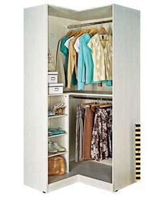free standing closet in a corner - alta freestanding corner wardrobe -- perfect for 5705 Mini Closet, Walk In Closet Ikea, Corner Closet, Closet Space, Ikea Pax Corner Wardrobe, Corner Armoire, Walking Closet, Bedroom Wardrobe, Home Bedroom