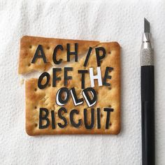 #manyemmas #typography #handlettering #lettering #lettercuts #chip #off #old #biscuit #flaky