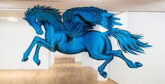 PEGASUS - Anamorphic mural - 3d optical illusion street art - by Truly Urban Artists