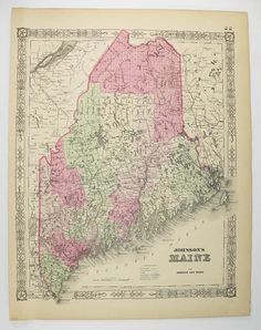10 Best Maine Old Maps images