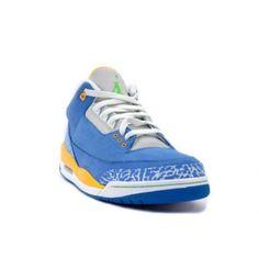 Air Jordan Retro 3 ls do the right thing brisk blue radient green pro gold 315297-471