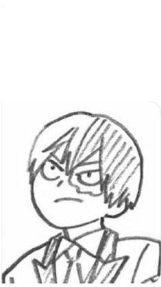 Just an angry Todoroki Mega Anime, Anime W, Art Anime, My Hero Academia Memes, Hero Academia Characters, My Hero Academia Manga, Anime Drawings Sketches, Anime Sketch, Boku No Hero Academy