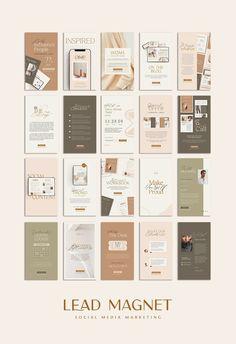 8 in 1 Bundle Lead Magnet PS CANVA by Eviory on @creativemarket Instagram Feed Layout, Instagram Creator, Instagram Design, 2 Instagram, Instagram Story Template, Social Media Template, Social Media Design, Organizar Instagram, Folder Design