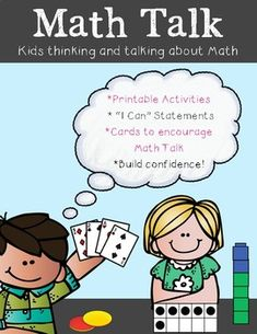 Math Talk Kids Thinking and Talking about Math Do you want your students to be confident Math talkers? This product is proven to help your students do just that! Your students will be given many opportunities to use sentence frames and learn Math Talk that will help them become more confident Mathematicians.