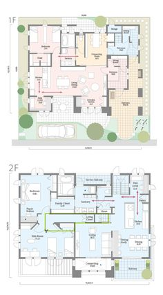 Japanese House, House Plans, Floor Plans, House Design, How To Plan, Architecture, Modern, Home Decor, Houses