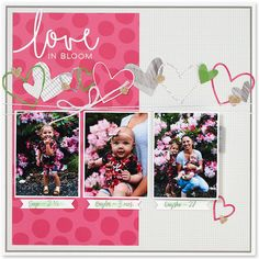 Beautiful scrapbook pages created by Karen Pedersen with our Fundamentals papers… I like tha Bridal Shower Scrapbook, Wedding Scrapbook, Baby Scrapbook, Scrapbook Cards, Scrapbook Sketches, Scrapbook Page Layouts, Scrapbook Designs, Recipe Scrapbook, Photo Layouts