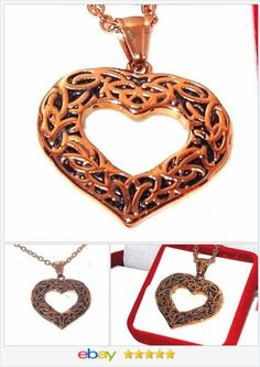 Heart Pendant 18K Rose Gold and Stainless Steel with chain USA SELLER  50% OFF #EBAY http://stores.ebay.com/JEWELRY-AND-GIFTS-BY-ALICE-AND-ANN